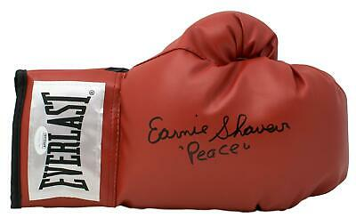 Earnie Shavers Signed Red Everlast Right Hand Boxing Glove Peace Inscribed JSA
