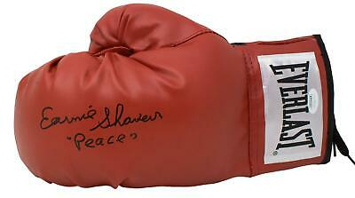 Earnie Shavers Signed Red Everlast Left Hand Boxing Glove Peace Inscribed JSA