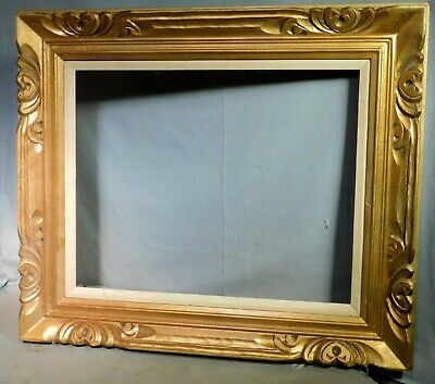 Vintage Hand carved Gilt Wood Spanish Baroque Picture Frame 16x20 Custom Corner