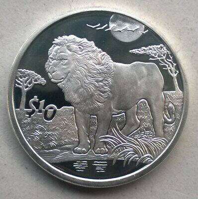 Sierra Leone 2006 Lion 10 Dollars Silver Coin,Proof