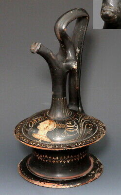 Nice Example Of A Greek Terracotta Epichysis Of Gnathian Ware (M930)