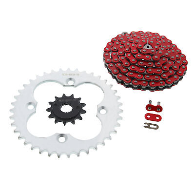 2005-2008 Fits Honda 400EX TRX400EX Red O-Ring Chain and Black Sprocket 13//39 94L