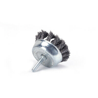 """3"""" Twisted Knot Wire Cup Brush Stainless Steel Wheel for Rust Removal 1/4"""" Shank"""