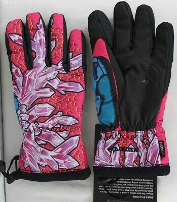 Celtek Loved By A Snowboard Glove Womens Size Medium Crystal Stag New