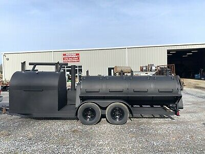 Bbq Trailer Grill Smoker 2-5' Rotisseries And 5' Flat Grill!!🎯