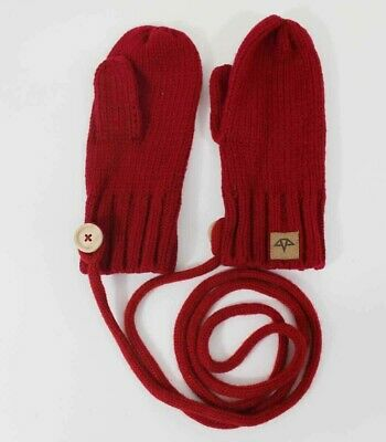 Celtek String Knitted Mittens Red Womens One Size New