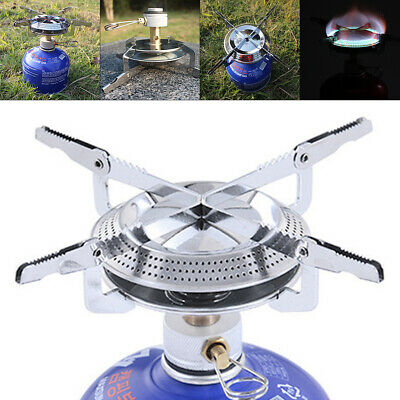 Portable Mini Outdoor Stove Camping Hiking Fishing Gas Heater Cooker Furnace NEW