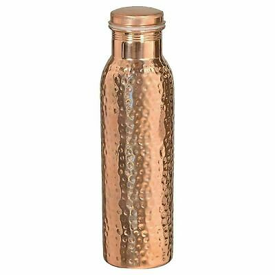Hammered 950ML Pure Copper water Bottle Health Benefit Leak Proof |