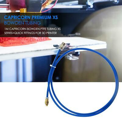 1m 4mm Capricorn Bowden PTFE Tubing XS Series+Quick Fittings for 3D Printer
