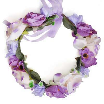 Boho Flower Crown Headband Floral Hair Wreath Bridal Garland Headpiece EBHS21