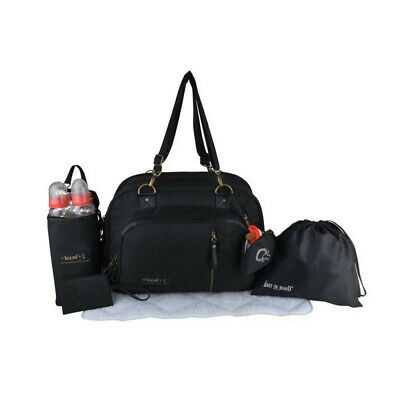 Baby on board - sac a langer- sac daily black - 3 compartiments 10 poches tapis