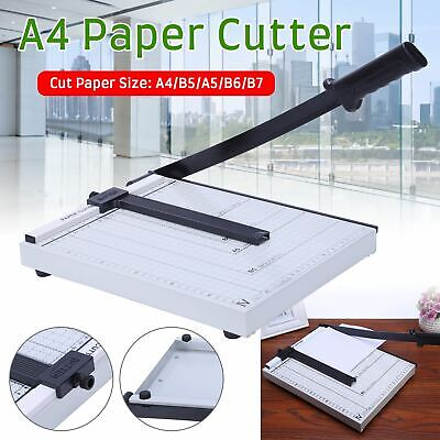 Heavy Duty A4/A5 Paper Guillotine Cutter Trimmer Machine Home Office Adjustable