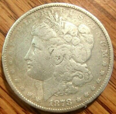 1878 Morgan Silver Dollar Nice Circulated First Year Of Issue Coin #1