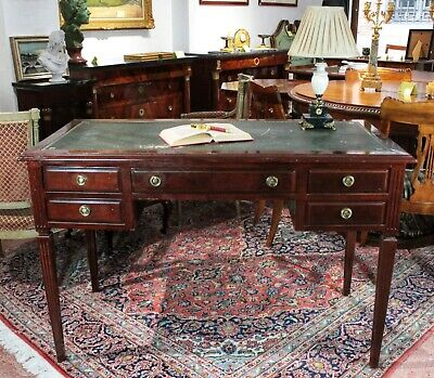 Flat Desk In Oak Louis XVI Style 20th Century