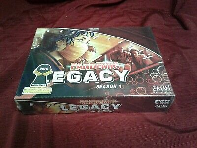 Sealed rare Z-Man Games Pandemic: Legacy Season 1 red box board game gift zombie