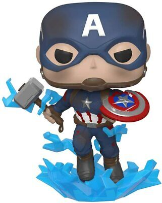 Funko Pop Marvel: Avengers Endgame - Captain America with Broken Shield & Mjoin