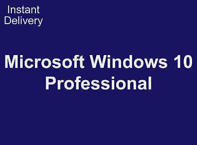 Windows 10 Professional (32/64Bit) License Key for PC
