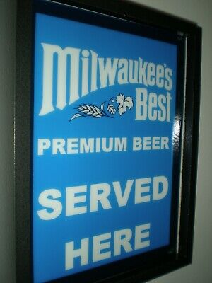 Milwaukee's Best Beer Bar Tavern Man Cave Lighted Advertising Sign