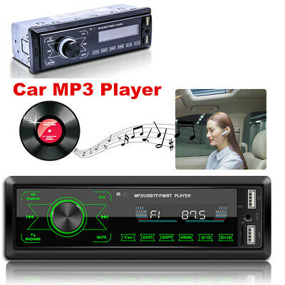 Car Stereo Audio In-Dash Bluetooth FM Aux Input Receiver SD USB MP3 Radio Player