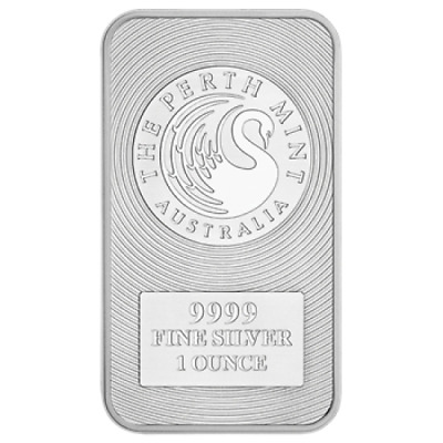 Perth Mint Kangaroo 1oz SILVER Bullion Bar - 99.99% pure - FREE TRACKED POST