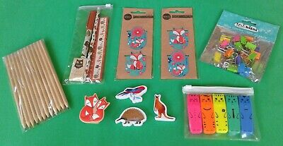 Assorted Mix Of Animal Themed Stationery Lot x 10