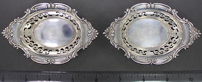 2 Antique Gorham Cromwell Sterling Silver Nut Dishes 4780