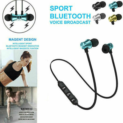 Magnetic Wireless Bluetooth Earphone Sports Headphone In-Ear Stereo Mic Headsets