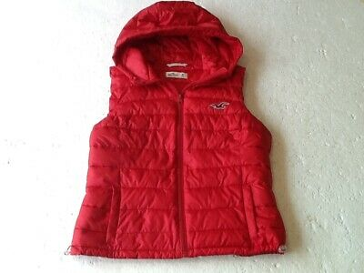 HOLLISTER-CHILDS-BODY WARMER/GILET-INSULATED-SLEEVELESS-M=30-32in.-FLAME RED-VGC