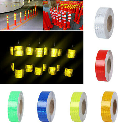 1M 3M Night Reflective Safety Strip Warning Conspicuity Roll Tape Film Sticker