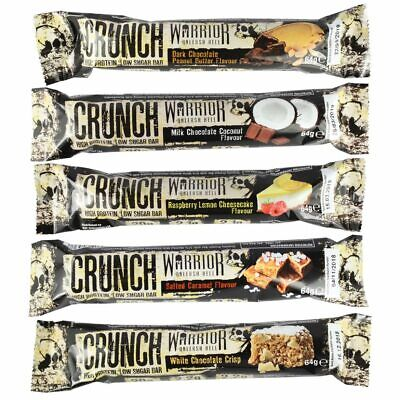 Warrior Crunch High Protein Bars Low Carb Low Sugar Pick Any Flavour Muscle Gain
