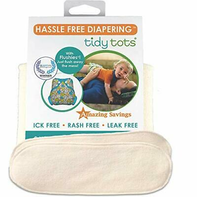 Tidy Tots Diapers Hassle Free 4-layer Organic Hemp Booster 2 Pack O/S
