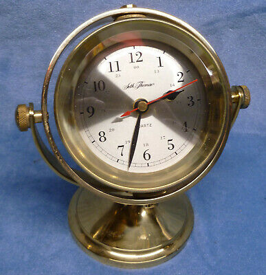 Seth Thomas Brass Nautical Gimbal Clock 1044 Schooner