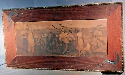 Antique Arts Crafts Aesthetic Character Picture Frame Etching Pre-Raphaelite ASH