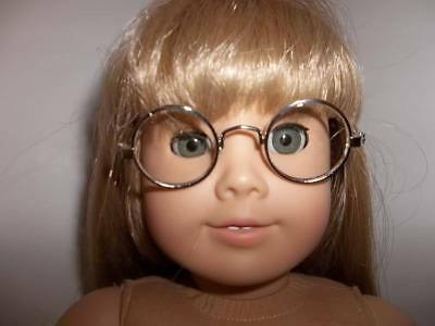 """Gold Wire Rimmed Glasse made for 18"""" American Girl Doll Clothes New"""