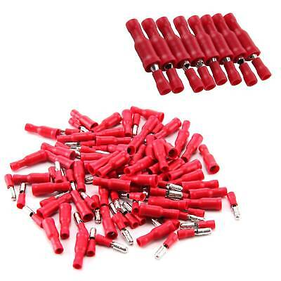 100X Insulated Bullet Terminal Receptacles Electrical Splice Crimp Wire Terminal