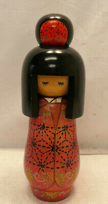 Kokeshi Creative Style Wooden Japanese Doll Handpainted Wood Vintage  #590