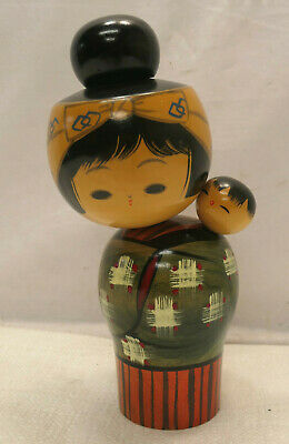 Kokeshi Creative Style Wooden Japanese Doll Handpainted Wood Child Vintage  #599