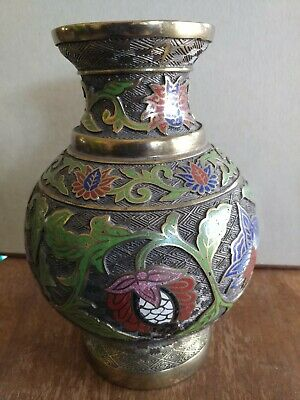 VTG ANTIQUE CLOISONNÉ BRONZE / BRASS Lamp base