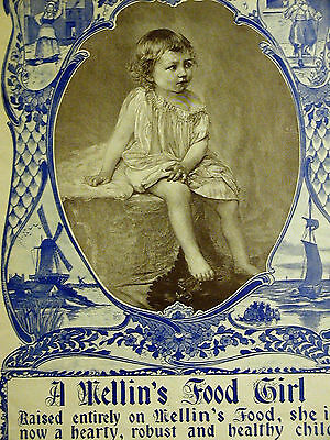 A. Mellin's Food Girl BOSTON BABY FOOD DOLIBER-GOODALE CO. 1896 Print Ad Matted