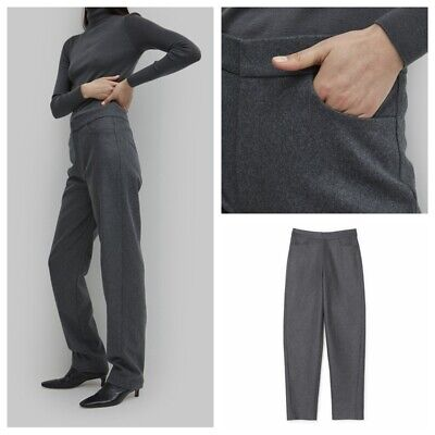 TOTEME Temperament Women's Casual Trousers Wool Straight Pants