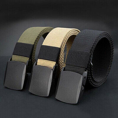 Canvas Sports Tactical Waistband Men Nylon Web Military Belt Fashion Outdoor