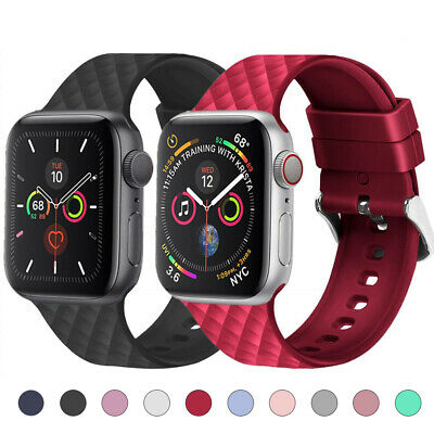 Silicone Sports Watch Band Strap for Apple iWatch Series 5 4 3 2 40/44mm 38/42mm