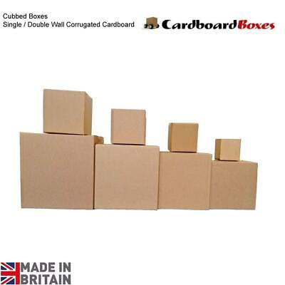 NEW Single / Double Wall Cardboard Boxes Cubed Mailing Shipping Storage Cartons