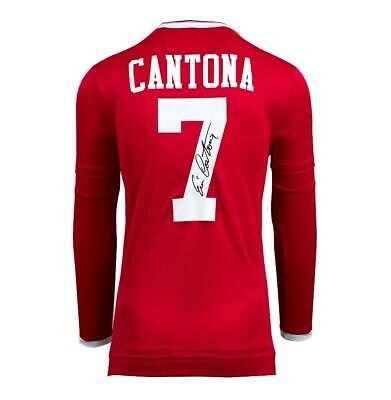 Eric Cantona Signed Manchester United Shirt - Retro Number 7 Autograph
