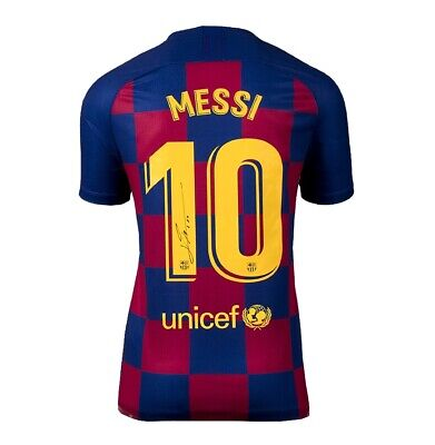 Lionel Messi Signed FC Barcelona 2019-20 Home Shirt Autograph Jersey