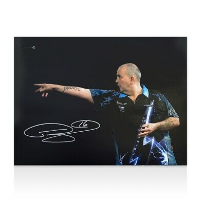 Phil Taylor Signed Darts Photo - The Power Autograph