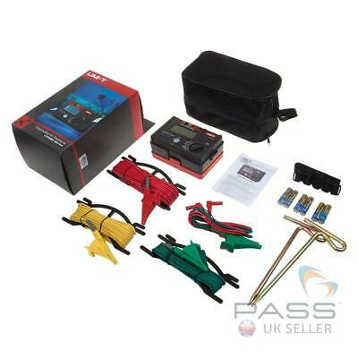 *NEW* Genuine UNI-T UT521 Digital Earth Resistance Tester + Accessories / UK