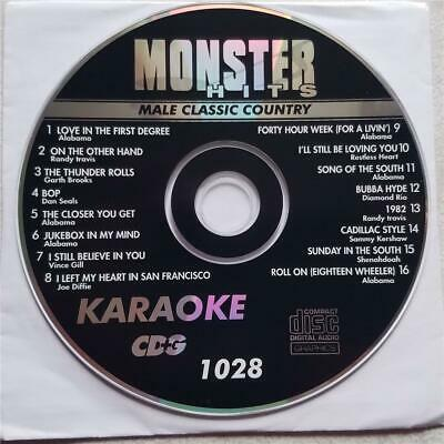 Classic Male Country Karaoke Cdg Monster Hits Mh1028 - Alabama,Vince Gill & More