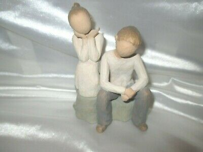 BROTHER and SISTER Demdaco Willow Tree Figurine Susan Lordi 2007