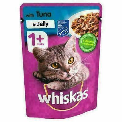 Whiskas Tuna in Jelly Wet Adult 1+ Cat Food Pouches 24 x 100g (Price Marked)